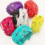 7 Color Seed Bead Cuff Bangle Bracelet w/ Multi Color Beads .54 ea