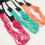 Trending Great Color Seed Beaded Fashion Headband .54 ea