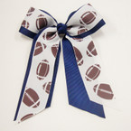 "Big 5"" X 7"" Cheerleader Gator Clip Bow Football Ribbon & All Navy Ribbon .54 ea"