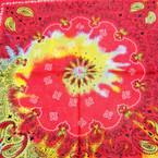"""21"""" Square 100% Cotton Tye Dye Pattern Bandana's .52 ea"""