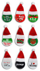 "3"" Holiday Saying Button Pin w/ Santa Hat Mixed Designs 48 per pk .33 ea"