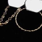 Heavy Gold Bangle & Link Bracelets 18 pcs pk CLOSEOUT .15 ea