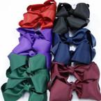 """5"""" Gator Clip Bow Mixed Fall School Colors  .50 ea"""
