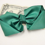 "5"" Gator Clip Bow Hunter Green School Color  .50 ea"
