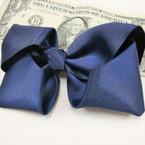 """5"""" Gator Clip Bow Navy Blued School Color .50 ea"""