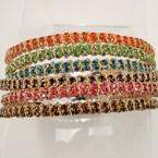Fashion Headband w/ DBL Row Crystal Stones .54 ea
