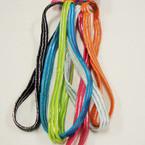 6 Pack Elastic Colorful Headbands w/ Silver Stripe .50 ea set