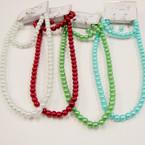 """16""""-18""""  9- Color Glass Pearl Necklace & Bracelet Set .54 ea"""