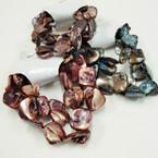 3 Pk Natural Color Shell Bracelets 7 pk bag .40 per set