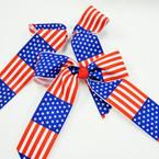 """6"""" X 8"""" USA Flag Gator Clip Bows .56 ea"""