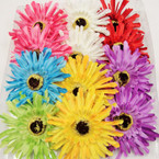 "5"" Fancy Cut Sunflower Flower Bow 3 in 1 .54 ea"