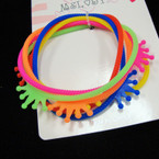 6 Pack Gummy Bracelets w/ Crown .50 per set