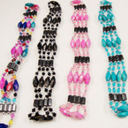 "32"" Magnetic Beaded Bracelet/Necklace mixed colors .54 ea"