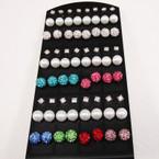 Big Display 36 Pair Earrings As Shown .25 per pair