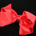 """5"""" All Holiday Red Gator Clip Gro Grain Bow .54 ea"""