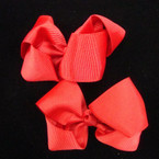 """3"""" All Red Holiday Color Gator Clip Bow 24 per pack  .27 ea"""