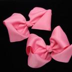 "3"" All Lite Pink  Color Gator Clip Bow 24 per pack  .27 ea"
