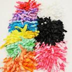 "4"" Mixed Color Curly Ribbon Gator Clip Bows 24 per pack .27 ea"