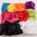 """Big Size 6"""" Silk Flower Bow 3 in 1 Use Mixed Colors .54 ea"""