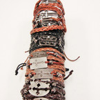 Multi Line Leather Bracelet w/ Mixed Style Silver Crosses Only .54 ea
