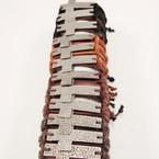 Teen Leather Bracelet w/ Big Silver Hammered Style Cross .54 ea