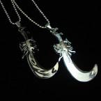 Silver Ball Chain Necklace w/ Sword Style Pendant .54 ea
