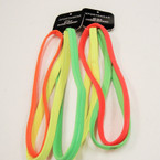 3 Pack Neon Color NO-SLIP Silicone Headwrap NO METAL .54 per set