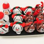 Cute Dressed Up Christmas Bell Rings 12 per display .58 ea