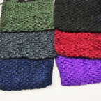 "5"" Asst Dark Color Crochet Headwraps .42 ea"