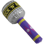 """7.5"""" Rock & Roll Inflatable Microphone 12 per pack .56 ea"""