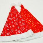 "14"" Christmas Hats Gold & SIlver Holiday Print 12 per pk ONLY .54 ea"