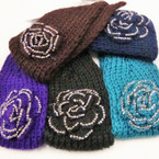 "4"" Knit Winter Headwrap w/ Silver Stone Bow  ONLY $ 2.00 ea"