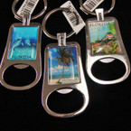 "2.75"" Scenic Metal Florida Keychain w/ Bottle Opener .54 ea"