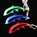 "3"" Metal Dolphin Florida Keychain Asst Colors .35 ea"