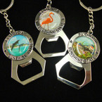 "2.5"" Scenic Metal Florida Keychain w/ Bottle Opener .54 ea"