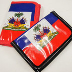 Haiti Flag Tri Fold Wallets .50 ea