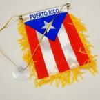 "4"" X 6"" Mini Banner Flag Puerto Rico (24) .54 ea"