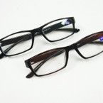 Standard Shape Black & Brown Plastic Reading Glasses ONLY .54 ea