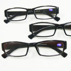 Standard Sq. Shape Black & Brown Plastic Reading Glasses ONLY .54 ea