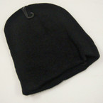 "6"" X 7"" Kid's Knit Winter Caps All Black .54 ea"