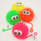 "4"" Big Eye Light Up Puffer Ball w/ YoYo Asst Colors 12 per bx .79 ea"