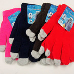Asst Color Magic Knit Gloves w/ Touch Screen Tips ONLY .75 per pair