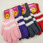 DBL Striped Pattern Soft & Cosy Winter Gloves Only .55 ea pair