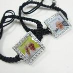 Black Macrame Bracelet w/ Pope Francis Pic  .50 ea