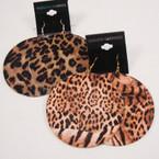 """3.25"""" Big Animal Print Fashion Earrings .50 ea pair"""