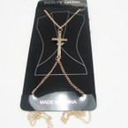 Gold  Body Chain w/ CROSS  ONLY .33 ea