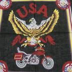 """21"""" Square USA EAGLE Biker Style Bandana .50 ea"""