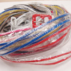 "Amazing CLOSEOUT 1"" Wide Clear Belts w/ Colored Buckle & Trim 12 pk ONLY .50 ea"