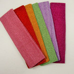 "2"" Asst Color Glitter Stretch Headband .52 ea"