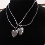 2 Pack Hematite Necklace w/ Heart Pendant .60 per set